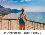 Young Tourist Woman On The...