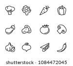 vegetable hand drawn icon set... | Shutterstock .eps vector #1084472045