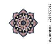 mandala. round ornament floral... | Shutterstock .eps vector #1084477082