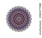 mandala. round ornament floral... | Shutterstock .eps vector #1084477088
