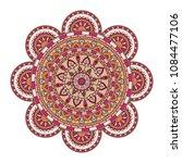mandala. round ornament floral... | Shutterstock .eps vector #1084477106