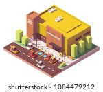 vector isometric low poly... | Shutterstock .eps vector #1084479212