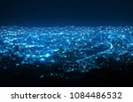 abstract web network connection ... | Shutterstock . vector #1084486532