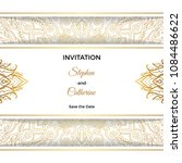 save the date invitation card... | Shutterstock .eps vector #1084486622