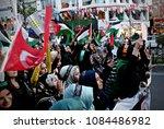 pro palestinian activists... | Shutterstock . vector #1084486982