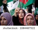 pro palestinian activists... | Shutterstock . vector #1084487522