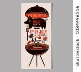 bbq grill meat barbecue... | Shutterstock .eps vector #1084496516