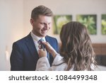 wife and husband before going... | Shutterstock . vector #1084499348