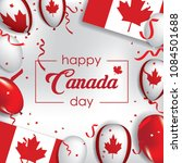 happy canada day greeting card  ... | Shutterstock .eps vector #1084501688