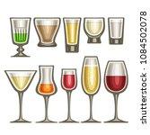 vector set of different... | Shutterstock .eps vector #1084502078