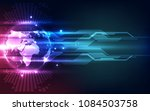 abstract digital technology... | Shutterstock .eps vector #1084503758