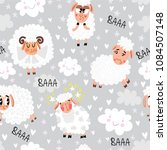 seamless pattern with cute... | Shutterstock .eps vector #1084507148