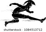 spartan race athlete leaping  | Shutterstock .eps vector #1084513712