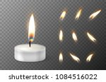 vector 3d burning realistic... | Shutterstock .eps vector #1084516022