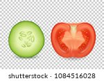 vector 3d realistic slice juicy ... | Shutterstock .eps vector #1084516028