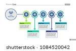 five steps process chart slide...