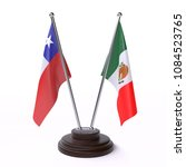 chile and mexico  two table... | Shutterstock . vector #1084523765