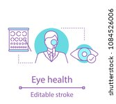 ophthalmologist concept icon.... | Shutterstock .eps vector #1084526006