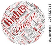 vector conceptual human rights... | Shutterstock .eps vector #1084527365