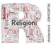 vector conceptual religion  god ...   Shutterstock .eps vector #1084528736