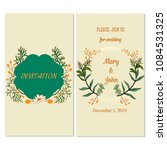 wedding cards  floral wedding... | Shutterstock .eps vector #1084531325