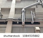 the steel pipe from cooling... | Shutterstock . vector #1084535882