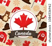 happy canada day | Shutterstock .eps vector #1084536962