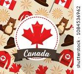 happy canada day | Shutterstock .eps vector #1084536962