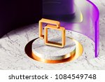 golden clone icon with marble... | Shutterstock . vector #1084549748