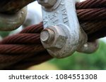 two steel ropes connected by... | Shutterstock . vector #1084551308