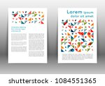abstract color brochure design... | Shutterstock .eps vector #1084551365