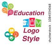 stylish logos of educational... | Shutterstock .eps vector #1084554068