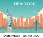 statue of liberty. world... | Shutterstock .eps vector #1084558322