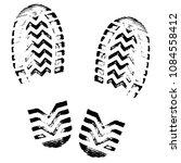 footprint  silhouette vector.... | Shutterstock .eps vector #1084558412