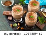 chocolate nut mousse with mint... | Shutterstock . vector #1084559462