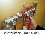 radiant floor heating... | Shutterstock . vector #1084560512