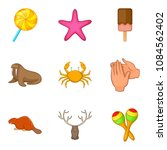 domesticate fauna icons set.... | Shutterstock .eps vector #1084562402