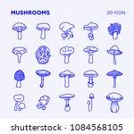 simple set of mushrooms vector... | Shutterstock .eps vector #1084568105