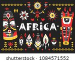 hand drawn poster with the... | Shutterstock .eps vector #1084571552