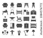 furniture simple design icons... | Shutterstock .eps vector #1084576772