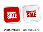 clearance sale stickers | Shutterstock .eps vector #1084580378