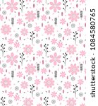 cute abstract hand drawn floral ... | Shutterstock .eps vector #1084580765