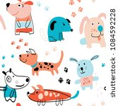 childish seamless pattern with...   Shutterstock . vector #1084592228