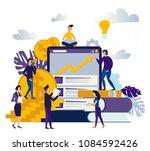 illustration of virtual... | Shutterstock . vector #1084592426