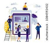 illustration design concept on... | Shutterstock . vector #1084592432