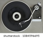 vintage record player with... | Shutterstock . vector #1084596695