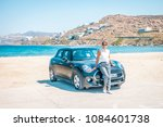 mykonos greece april 2018  mini ... | Shutterstock . vector #1084601738