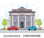 cartoon bank or government... | Shutterstock .eps vector #1084608488