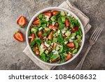 strawberry  avocado  spinach ...   Shutterstock . vector #1084608632