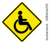 disabled wheelchair icon ... | Shutterstock .eps vector #1084616255